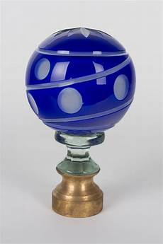 Glass Boule D Escalier Or Newel Post Finial For