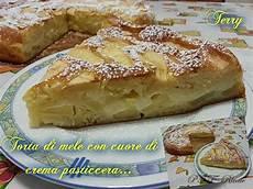 torta di mele e crema pasticcera fatto in casa da benedetta torta di mele con cuore di crema pasticcera ptt ricette