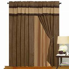Brown Curtains by Brown Micro Suede New Window Curtain Panels Liner