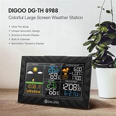 Digoo Th8622 Channels Color Screen Weather by Digoo Dg Th8988 Colorful Large Screen Weather Station Sale