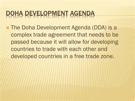 Doha Development Agenda