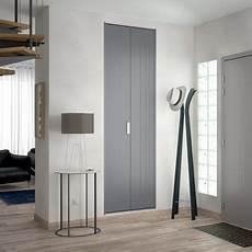 porte de placard pliante m 233 tal gris kazed 62 x 205 cm