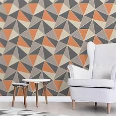 Grey And Burnt Orange Wallpaper