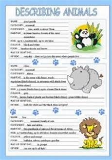 english worksheets describing animals 3 3