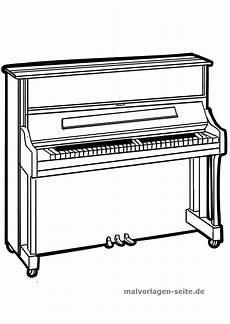 malvorlage klavier musik kostenlose ausmalbilder