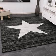 teppich jugendzimmer jugendzimmer teppich stern schwarz grau star teppiche