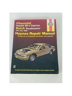 service and repair manuals 1996 chevrolet caprice engine control service repair manuals for chevrolet caprice for sale ebay
