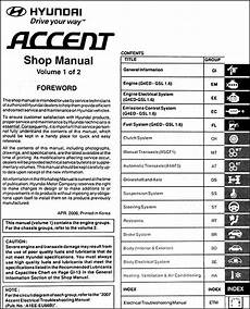free service manuals online 2013 hyundai accent on board diagnostic system 2007 hyundai accent repair shop manual 2 volume set original