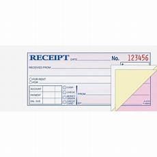 receipt book 2 3 4 7 3 16 three part carbonless 50 forms walmart com