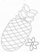 Draw The Pineapple Dotted Sheet Coloring Page  Download