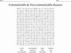 communicable non communicable diseases word search wordmint