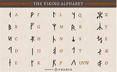 viking rune alphabet vector