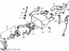 87 honda atv 250 wiring schematic honda trx250x fourtrax 250x 1987 h usa parts list partsmanual partsfiche