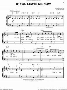 chicago if you leave me now sheet music for piano solo pdf
