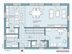 Grundriss Eg Mit Betonwand Zwischen Wohn Und Essbereich