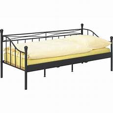 tagesbett metall tagesbett in schwarz ca 90x200cm online kaufen m 246 max