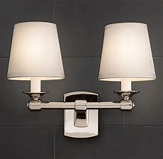 restoration hardware bathroom wall lighting caign double sconce