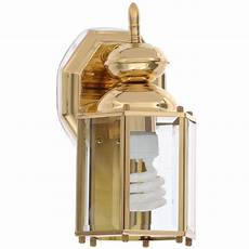 progress lighting brass guard collection polished brass 10 25 in outdoor wall lantern p5756 10