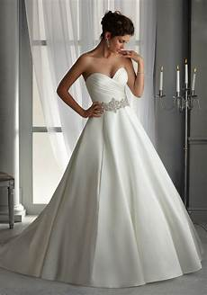 Classic Satin Wedding Gowns morilee bridal duchess satin wedding dress with