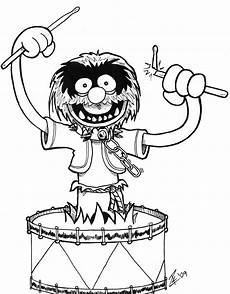 draw so animals coloring pages 17359 drum drawings animal from the muppets during heroes con 09 on june 18 with images