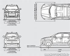 Mitsubishi Outlander Abmessungen - asx masse mitsubishi asx anklappbare au 223 enspiegel