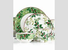 222 Fifth Christmas Foliage Collection   Dinnerware