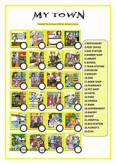 places in town writing worksheets 16040 my town atividades de ingles ingleses e atividades
