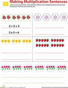 subtraction sentence worksheets for grade 2 10427 related facts make multiplication sentences repeated addition multiplication and sentences