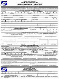 sss member loan application form docshare tips