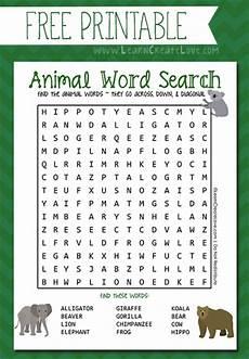 free animal word search printable homeschool giveaways