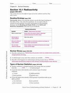 physical science radioactivity worksheet 13172 chapter 10 nuclear chemistry section 10 1 radioactivity fliphtml5