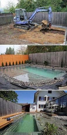 pool selbst mauern diy schwimmteich selber bauen small pool design diy