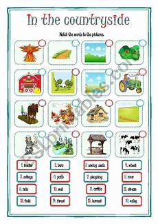 places to visit worksheets 16035 in the countryside esl worksheet by vivienne71