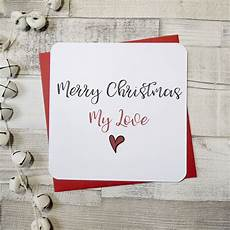merry christmas my love heart card by parsy card co notonthehighstreet com