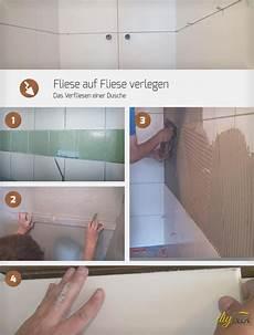 fliese auf fliese verlegen das verfliesen einer dusche