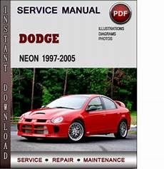 car repair manuals online pdf 1999 dodge neon auto manual dodge neon 1997 2005 factory service repair manual pdf download m