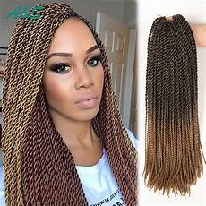 11 Colors Crochet Hair 18 Inch Thin Senegalese Twist