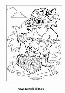 ausmalbilder pirat mit schatzkiste piraten malvorlagen