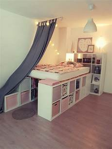 a loft bed from ikea kallax shelves kallax shelves ikea kallax shelf bedroom designs