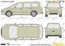Ford Galaxy Abmessungen - the blueprints vector drawing ford galaxy iii