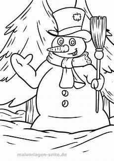 malvorlage schneemann winter kostenlose ausmalbilder