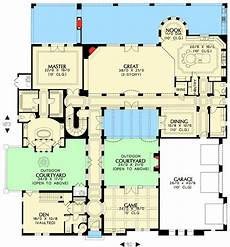 courtyard floor plans 19 best images about hacienda house plans on