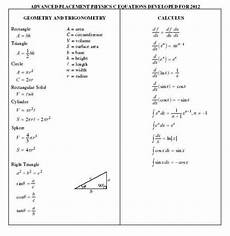 college board ap physics equation sheet 2019 2020 studychacha