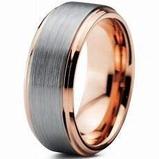tungsten wedding band ring 8mm for men comfort fit