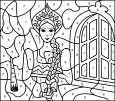 color by number princess coloring pages 18139 princess of russia printable color by number page kleurplaten sprookjes knutselidee 235 n