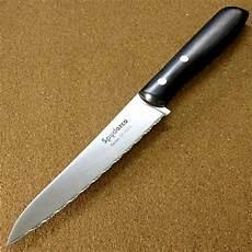Serrated Kitchen Knives Spyderco Kx06s Yin Serrated Kitchen Knife 150mm Vg10