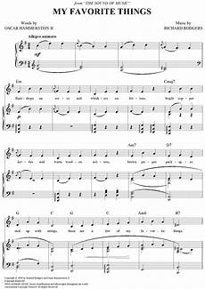 buy quot my favorite things quot sheet music for piano vocal chords