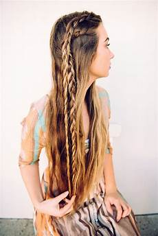 4 simple bohemian hairstyles perfect for your next music