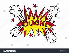Ouch Explosion Pop Art Style Vector Stock 107272307