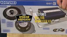 weekend wrenching hogtunes and speaker kit installation youtube